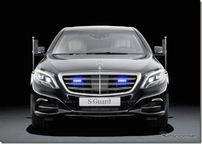 メルセデス・ベンツが防弾仕様車「S600ガード」を発表